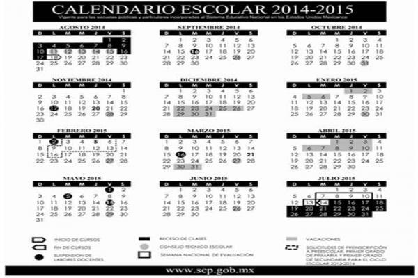 SEP publica calendario escolar para el ciclo 2014-2015